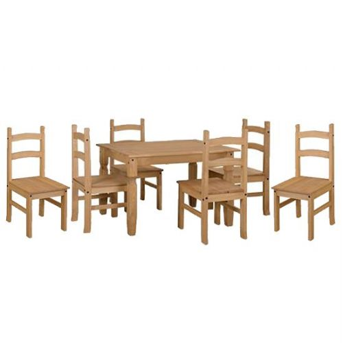 Premium Corona Pine Dining Table and Chair Sets